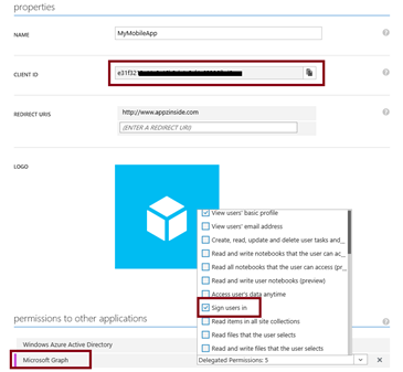 Implement ADAL for cross-platform Xamarin applications