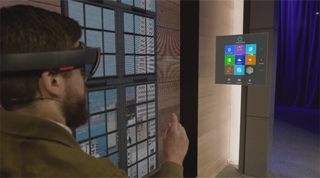Positioning and rotation of holographic objects with HoloLens