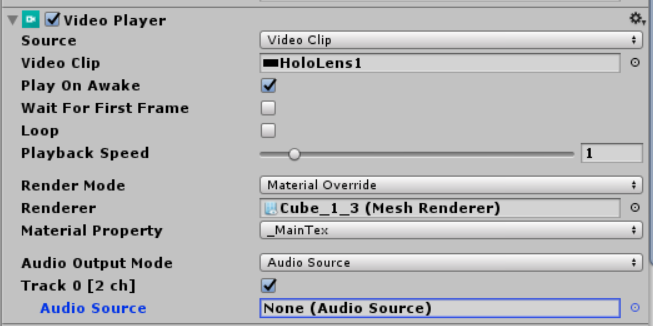 Getting sound of the new Video Player in Unity working for