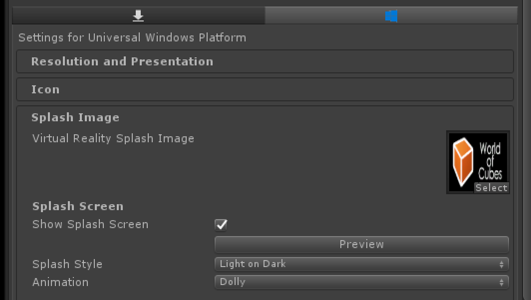 HoloLens and Unity tip #002 – Set your application icon and splash