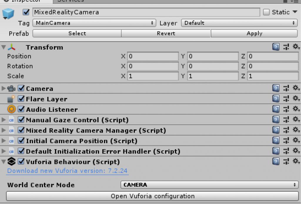 vuforia-camera-behavior